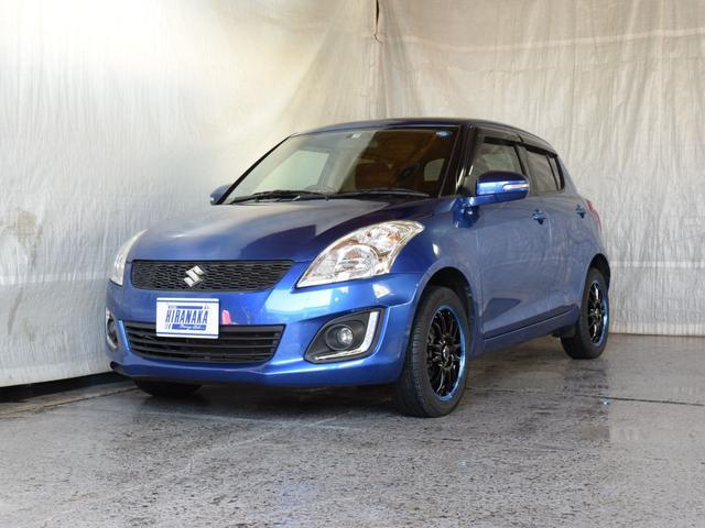 スズキ スイフト XS-DJE 4WD 1年保証 寒冷地仕様 夏冬タイヤ付 アイドリングストップ クルーズコントロール CD パドルシフト シートヒーター ミラーヒーター ワイパーデアイサー 新品タイヤ 社外AW