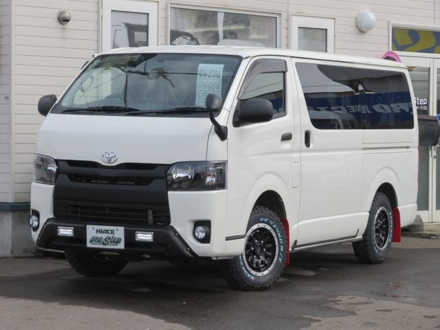 トヨタ ハイエースバン ロングDX 5ドア3.0ディーゼルオフロードパッケージ4WD 管110