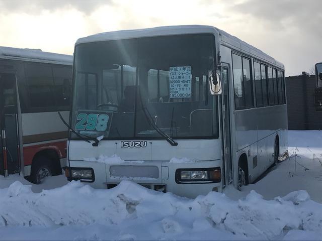 いすゞ 42人乗りバス AC PS ABS バックカメラ付