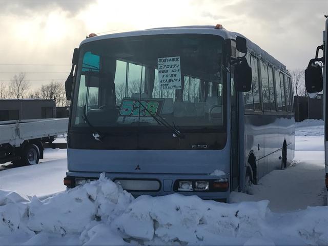 三菱ふそう エアロミディ 自動扉 リアヒーター ガイド席有 47人乗バス