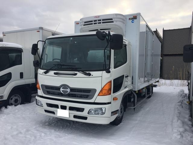 日野 2.3t積 冷凍冷蔵車 パネルバン ワイドロング ベット付