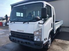 エルフトラック2t拡幅ワイドロング平ボディー 4WD 5MT 荷台塗装済