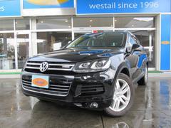 VW トゥアレグハイブリッド 1オーナ サンルーフ 革 ナビ 地デジ 4WD