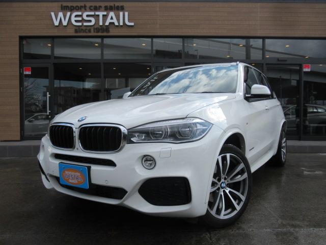 BMW X5 xDrive 35d Mスポーツ 1オーナ ディーゼル 4WD 冬タイヤ セレクトPKG 20インチアルミ ナビ TV ブルートゥース サンルーフ シートヒーター インテリセーフティ 全周囲カメラ クルコン コンフォートアクセス