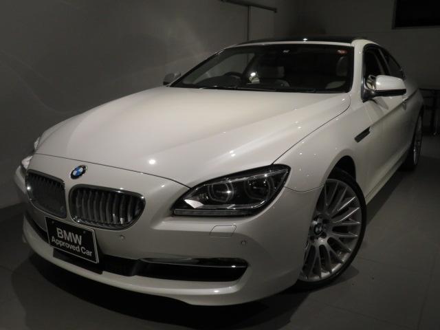 BMW 640iクーペ 認定中古 アイボリーレザー プラスパッケージ アダプティブLEDヘッドライト ガラスサンルーフ 20インチアロイホイールソフトクローズドア 2ドアクーペ 直列6気筒3000ccターボエンジン