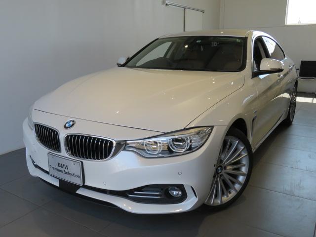 BMW 430iグランクーペ ラグジュアリー 認定中古車 2年保証 パーキングサポートP アラームシステム luxury パドルシフト LEDヘッドライト サドルブラウンレザーシート 地デジチューナー 全周囲PDCセンサー