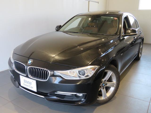 BMW 3シリーズ 320iラグジュアリー 6カ月保証 ガラスサンルーフ サドルブラウンレザーシート シートヒーター リアビューカメラ リヤPDCセンサー スタッドレス装着中 夏タイヤ純正アロイセットあり