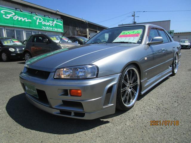 日産 スカイライン GT セダン 5速マニュアル 社外フルエアロ HDDナビ DVD CD MD 19インチアルミ 車高調新品
