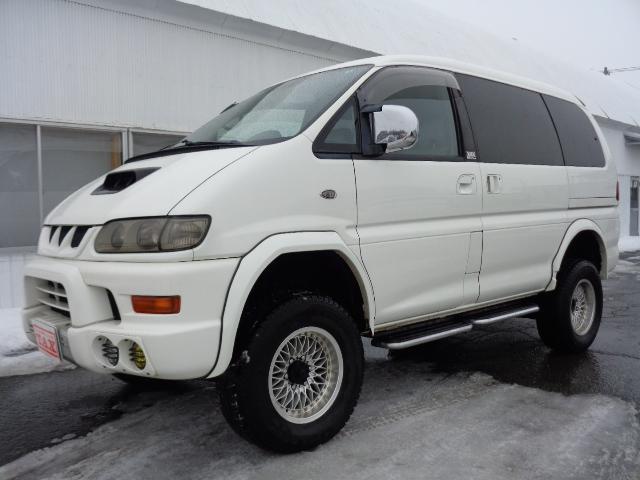 三菱 デリカスペースギア シャモニー 社外HDDナビ パートタイム4WD