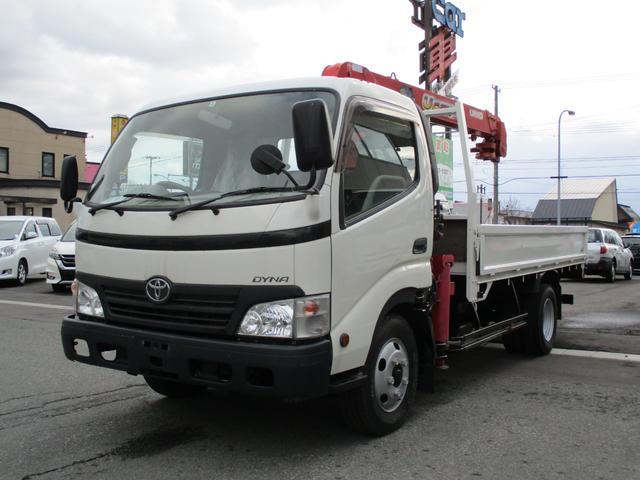 トヨタ ダイナトラック 2t ユニック製4段ラジコンクレーン 平ボディ 5速MT