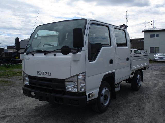 いすゞ エルフトラック Wキャブ 4WD 1.15t 5速マニュアル フル装備 キーレス リヤヒーター リヤシングルタイヤ 走行距離4.5万キロ