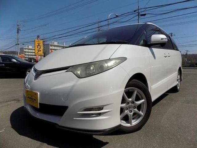 トヨタ エスティマ アエラス・4WD・両側パワースライドドア・HDDナビ