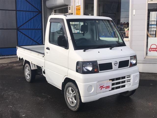 日産 4WD MT 軽トラック ホワイト