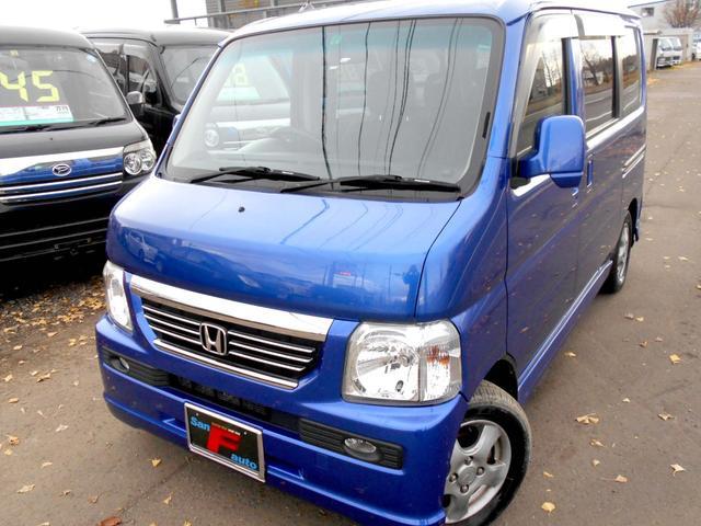 ホンダ 4WD Lターボ ローダウン 黒革調シートカバー HDDナビ