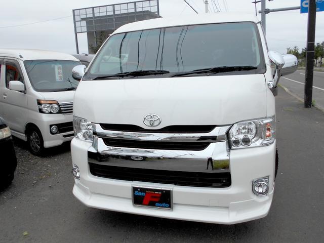 トヨタ ハイエースワゴン GL 4WD 2.7 電動スライド 黒革調シートカバー LEDヘッドライト リアヒーター&クーラー 10人乗り