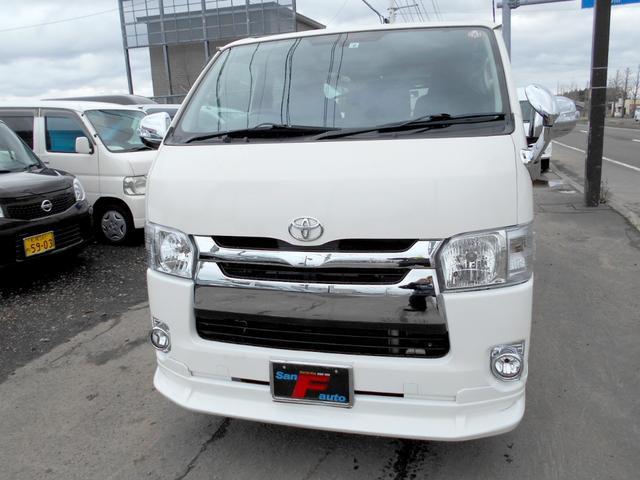 トヨタ ロングDX 4WD 3.0DT ETC 4型フェイス スポイラー LEDテール リアヒーター 9人乗り タイベル交換済 ナビTV