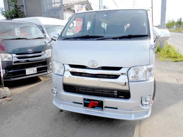 トヨタ ロングDX 4WD 2.5DT 黒革調ステッチシートカバー 4型フェイス スポイラー 6人乗り タイベル交換済