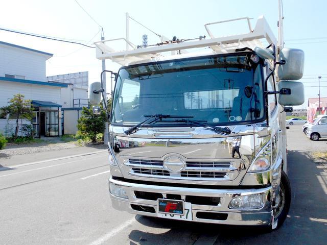 日野 レンジャープロ  キャリアカー 5台積み 積載車 搬送車 上部独立タイプ バック&サイドカメラ HID