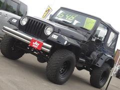 クライスラージープ ラングラースポーツ ソフトトップ 4WD 社外マフラ−