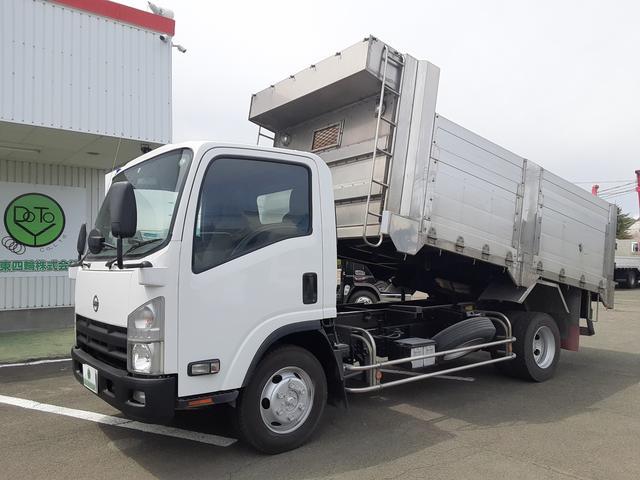 日産 アトラストラック  4WD ロングダンプ ワイド 深ダンプ ステン 観音開き 積載2t 荷台内寸L406W203H110