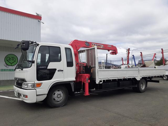 日野 ヒノレンジャー  クレーン車 4段ラジコン ワイド超ロング 積載2.65t 荷台内寸L641W236H40