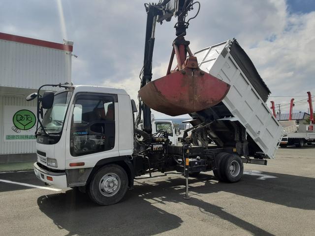 いすゞ  ヒアブクレーン付 深ダンプ グラップル 積載2.3t 荷台内寸L367W200H108