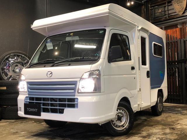 マツダ リゾートデュオ キャンピング4WD イクリプスHDDナビ ポップアップルーフ 外部電源 サブバッテリー インバータ ETC