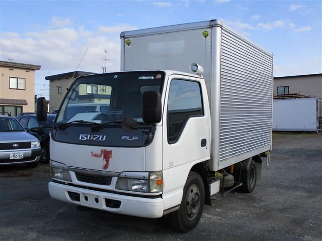 いすゞ エルフトラック 1.5t アルミバン 4WD バックカメ...
