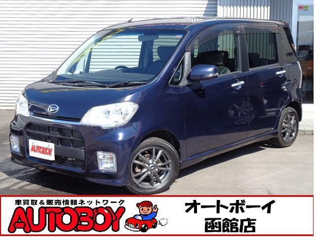 ダイハツ カスタムS 4WD シートカバー 純正ナビ ワンセグ