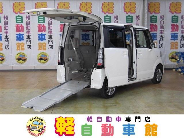 ホンダ N-BOX+ G スローパー福祉車両Rシート付 4WD ナビ・TV ABS