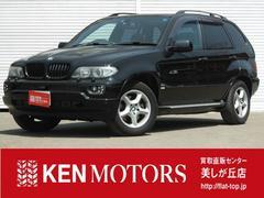BMW X53.0i サンルーフ 社外地デジナビ 黒革 HID