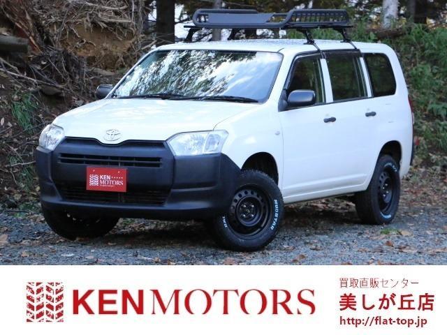 トヨタ プロボックス DXコンフォート 4WD リフトアップ 新品ホワイトレタータイヤ