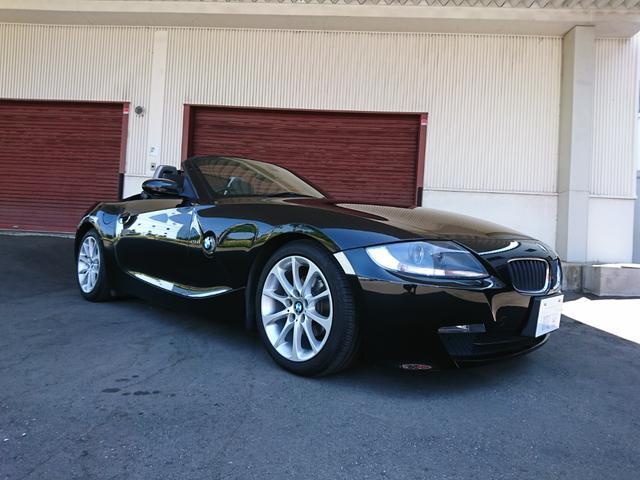 BMW Z4 ロードスター2.5i ワンオーナー ブラックレザーシート シートヒーター 純正ウインドディフレクター