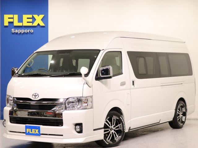 トヨタ DX GLパッケージ 特設パールホワイト LEDヘッドランプ デジタルインナーミラー インテリジェントクリアランスソナー パノラミックビューモニター リアヒーター・クーラー 助手席エアーバック AC100V 寒冷地仕様