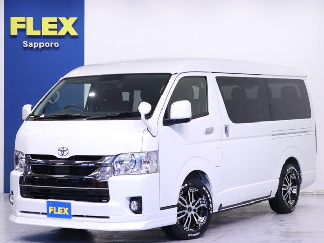 トヨタ ハイエースワゴン GL FLEX内装架装Ver1/BIGーXドラレコPKG BIG-X ALPINEドライブレコーダー Delf02 17inアルミホイール