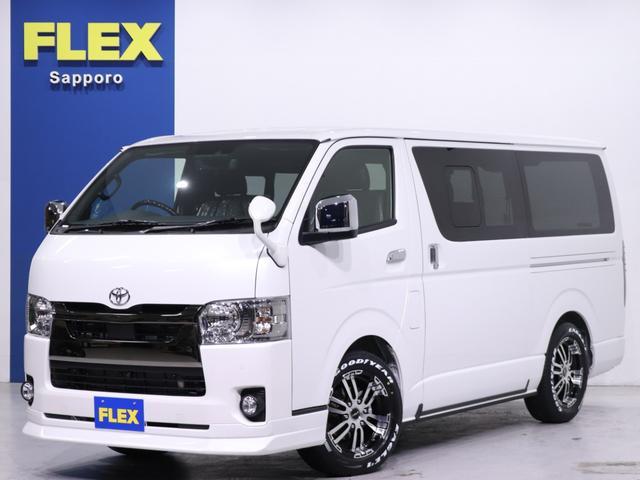 トヨタ スーパーGL ダークプライムII FLEX フローリング FLEX フロントリップ FLEX ベットキット FLEX Delf02アルミ17in グッドイヤー ナスカータイヤ17in 玄武 1.5inローダウンブロック