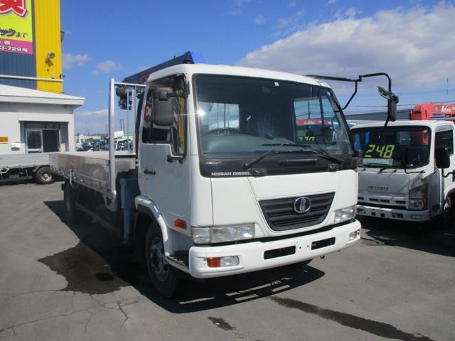 日産ディーゼル 4トン タダノ4段クレーン ラジコン アルミあおり