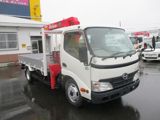 日野 2トン 4WD 3段クレーン フックイン 積載2000k 荷台内寸 長さ3500 幅1790