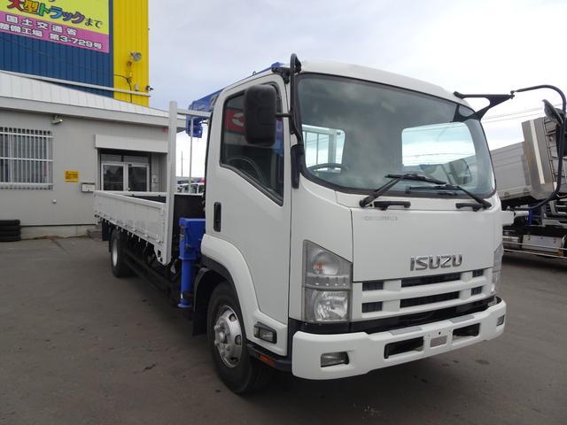 いすゞ 4トン 3段クレーン フックイン 積載2750k 荷台内寸 長さ5490 幅2180