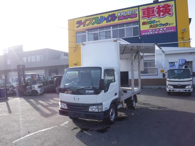 マツダ タイタントラック 4WD 箱車 作業車 アルミバン 荷台内寸 長さ3050 幅1530 高さ2120
