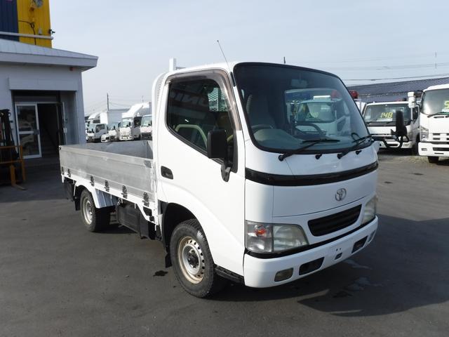 トヨタ 1.5トン 4WD 低床 平ボディ アルミあおり 荷台内寸長さ3070 幅1550 DPF無しマフラー 4ナンバー 5トン未満
