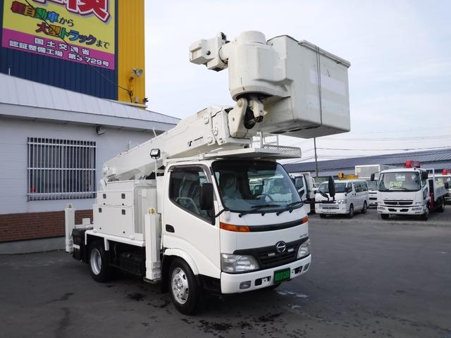 日野 デュトロ タダノ高所作業車AT146E 14.6メートル 電工仕様 バケット250k 自動格納 サブエンジン アワー1568H