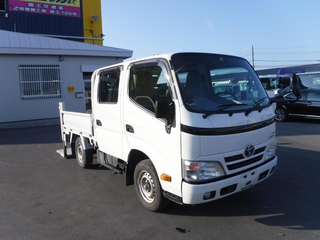 トヨタ ダイナトラック 4WD ダブルキャブ パワーゲート シングルタイヤ 垂直パワーゲート リアクーラー リアヒーター
