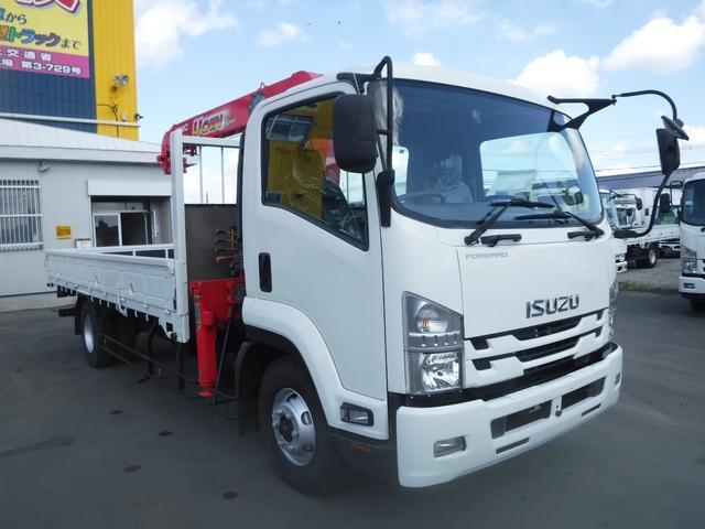 いすゞ 4トン 4段クレーン ラジコン フックイン 積載2650k 荷台内寸長さ 5410 幅2160