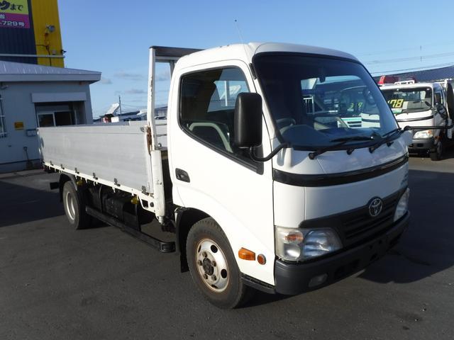 トヨタ ダイナトラック 2トン 4WD ロング 平ボディ アルミ深あおり 荷台鉄板 荷台内寸 長さ4360 幅1800