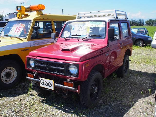 ジムニー 4WDターボ 前後社外バンパー