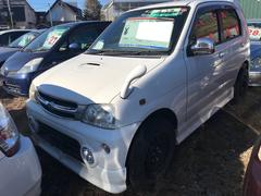 テリオスキッドカスタムX 4WD 軽自動車 ホワイト オートマ 純正エアロ