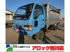 エルフトラック3.5t 家畜仕様ダンプ 4WD 5MT エアコン 現状販売