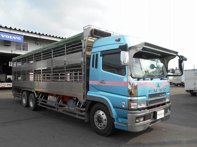 三菱ふそう 家畜運搬車 KL-FU50MUZ床縞アルミ板