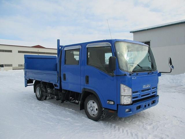 いすゞ エルフトラック Wキャブ パワーゲート付 BKG-NPR85AR